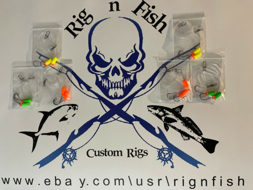 (6) Surf / Pier Fishing Rigs: Pompano, Whitings, Croakers, Snappers, Spots, Etc.