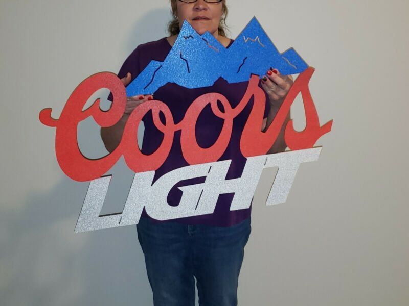 NEW! Large! Coors Light Beer Sign Mancave Garage Bar Wall decor Indoor Outdoor