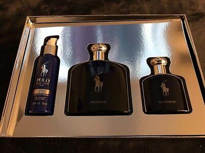 Polo Blue Ralph Lauren Men Cologne Eau De Parfum Spray 4.2 & 1.36 oz NB Gift Set