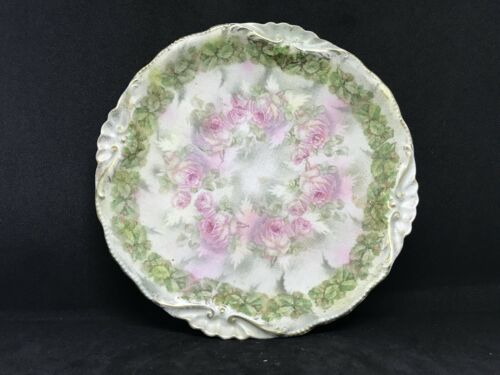 "Vintage Royal Bayreuth Rose Tapestry-A 7 1/2"" Inch Scalloped Plate-Stunning"