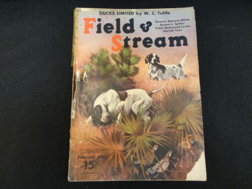 Field and Stream Magazine February 1941 Vintage Issue- Free Shipping!