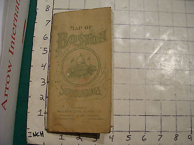 Vintage Map of BOSTON and Surroundings, early but undated, WALKER LITH & PUB CO