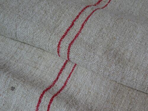 Antique European Feed Sack GRAIN SACK Red Stripe # 8980