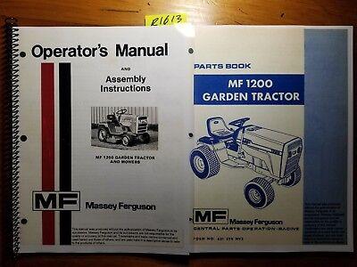 Massey Ferguson Mf 1200 Garden Tractor Mower Operator Manual 877 Parts 478