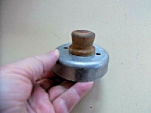 Vintage Round Tin Wooden Handle Biscuit Cutter