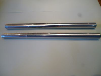 TRIUMPH T120 T140 TR6 OIL IN FRAME FORK STANCHIONS CHROME PAIR 97 400