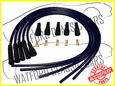 AccuSpark 8mm Universal Cut to Length Performance Ignition HT Leads in Black
