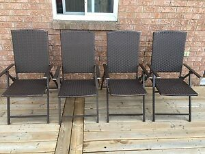 Folding Patio chairs $80