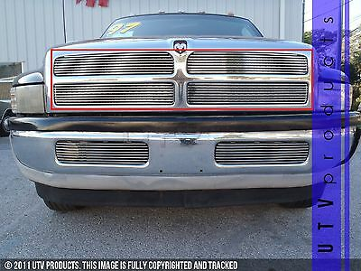 GTG 1994 - 2002 Dodge Ram 1500 2500 3500 4PC Polished Overlay Billet Grille Kit