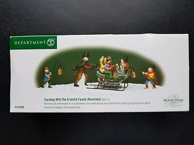 Dept 56 Dickens' Village Christmas Carol Caroling With The Cratchit Family 58396