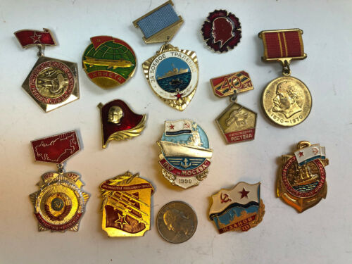 Vintage RUSSIAN SOVIET MILITARY MEDAL COLLECTION 12 Lot Russia