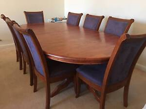Beautiful Extendable Hardwood 8 Seater Dining Table & Chairs Bellevue Hill Eastern Suburbs Preview