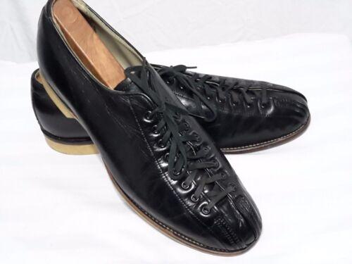 Hyde Mid Century Vintage Bowling Split Toe Shoes Black Leather Mens Size 11