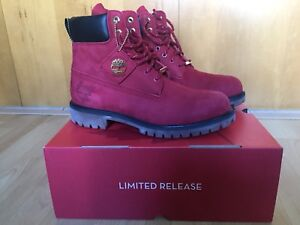 Limited Edition Red Timberland Boots sz 9.5