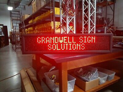 Indoor Led Message Sign Window Bright Red Business Hr And Status