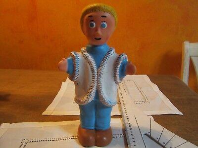 """Ancien jouet figurine  """"pouet-pouet année 1960....( émission  enfant RTBF-ORTF )"""