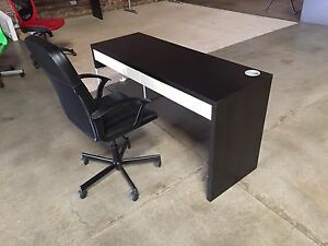 Micke desk with chair Richmond Yarra Area Preview