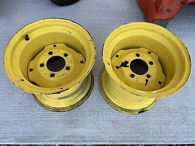 JOHN DEERE 420 430 10 1/2 10.50 Garden Tractor Rear Rims For 26x12-12 Tires