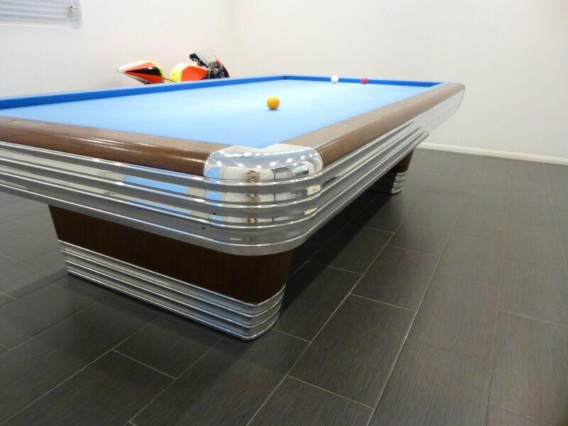 Brunswick Centennial Carombola table AKA: Carom, Pocketless Billiards Art Deco