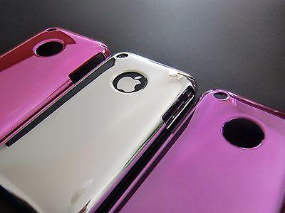 Schutz Hülle für Apple iPhone 3 3G 3G  Handy Hard Case Cover Chrome Design Chrome Apple