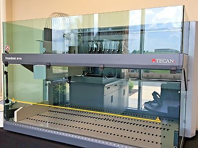 Tecan Freedom Evo 150 8 Tip Liquid Handling Automated Workstation Elisa Handler