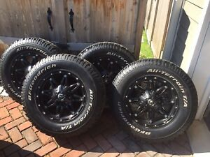 Fuel Hostage rims, 17x9 with BF Goodrich All Terrain A/T tires
