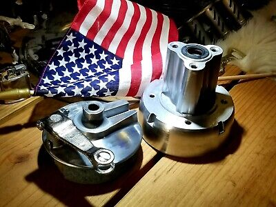 Polished 😎 Rear Drum Brake Hub and Cover Panel For Honda Z50A, Z50