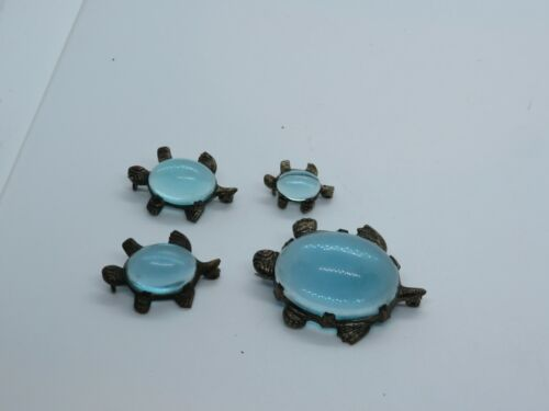 4 Vintage Jelly Belly Turtle Brooch Brooches Pins Family (745E)