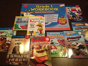 Begging readers books and grade 1 workbook