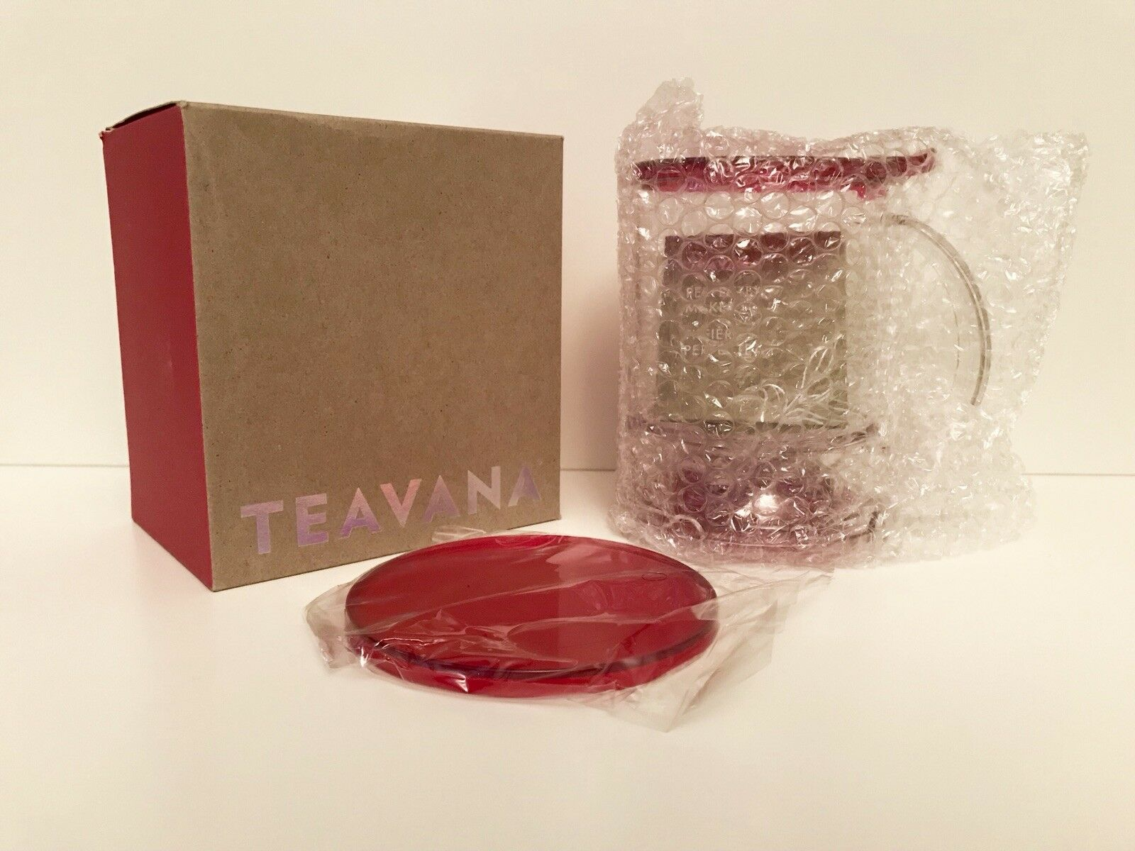 TEAVANA Dark Red Perfectea Maker  - RARE Edition - FACTORY N