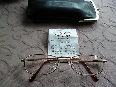 Gormanns Damenbrille mit Goldrand und Sehstärke neuwertig