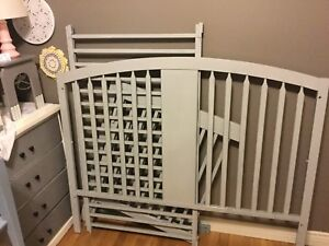 3 in 1 grey crib - 1 available