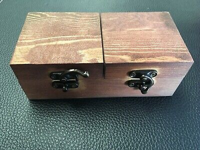 Wooden Jewelry Box Rustic Ring Box for Weddings Celebrations Keepsakes ()