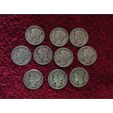 lot of 10 SILVER  mercury dimes