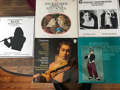 - Classical Flute 5 LP Lot Devienne Nicolet Bach Mozart Rampal Hoffmeister