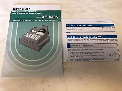 Sharp Xe-a406 Cash Register Manual Only