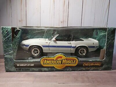 Ertl American Muscle 1969 Shelby GT-500 Convertible 1:18 Scale Diecast Car White