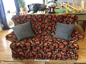 Antique floral couch