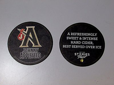 (25) Johnny Appleseed Hard Cider lot Beer Coasters Sleeve Mat Bar lift Craft pub (Johnny Appleseed Craft)