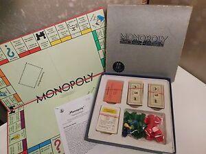 Monopoly -  1964 Silber Ausgabe -Schmidt Spiele - Holz Häuser