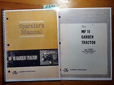 Massey Ferguson Mf 10 Mf10 Garden Tractor Operators Owners Manual Assembly