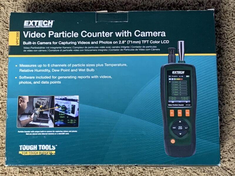 EXTECH VPC300 Video Particle Counter Brand New and Unopened