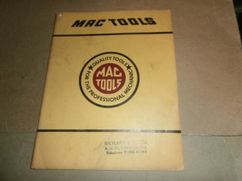 Vintage 1953 Mac Tools Catalog