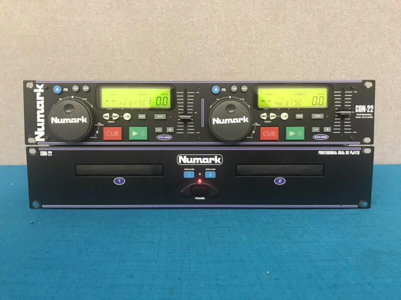 Numark CDN-22 Professional Dual CD Player - Tested & Working