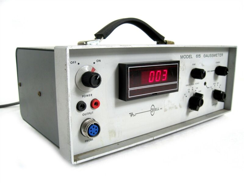 F.W. Bell 615 Grey Gaussmeter Precision Magnetic Flux Measuring Instrument Unit