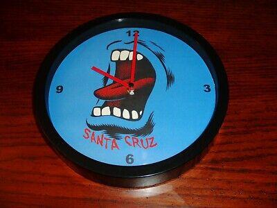 "Santa Cruz Skate Screaming Wall Clock Screaming Blue Hand Plastic 10"""