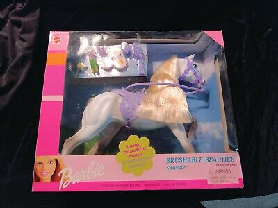 Vintage Barbie Brushable Beauties Sparkle Horse Barbie 1999 Mattel New in box