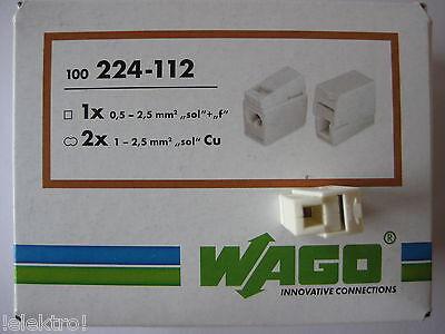 100 Wago Leuchtenklemmen 2x2,5 qmm 224-112 NEU OVP