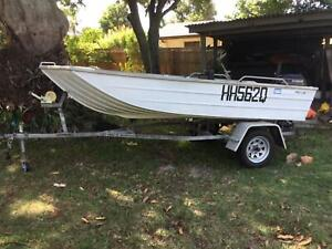Stacer Proline tinnie 370 15 hp Evinrude on trailer all with rego