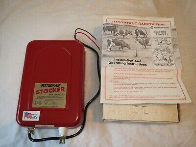 Statesman Stocker Electric Fence Controller 6 Volt Model 100